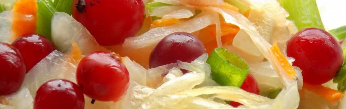 салат с клюквой