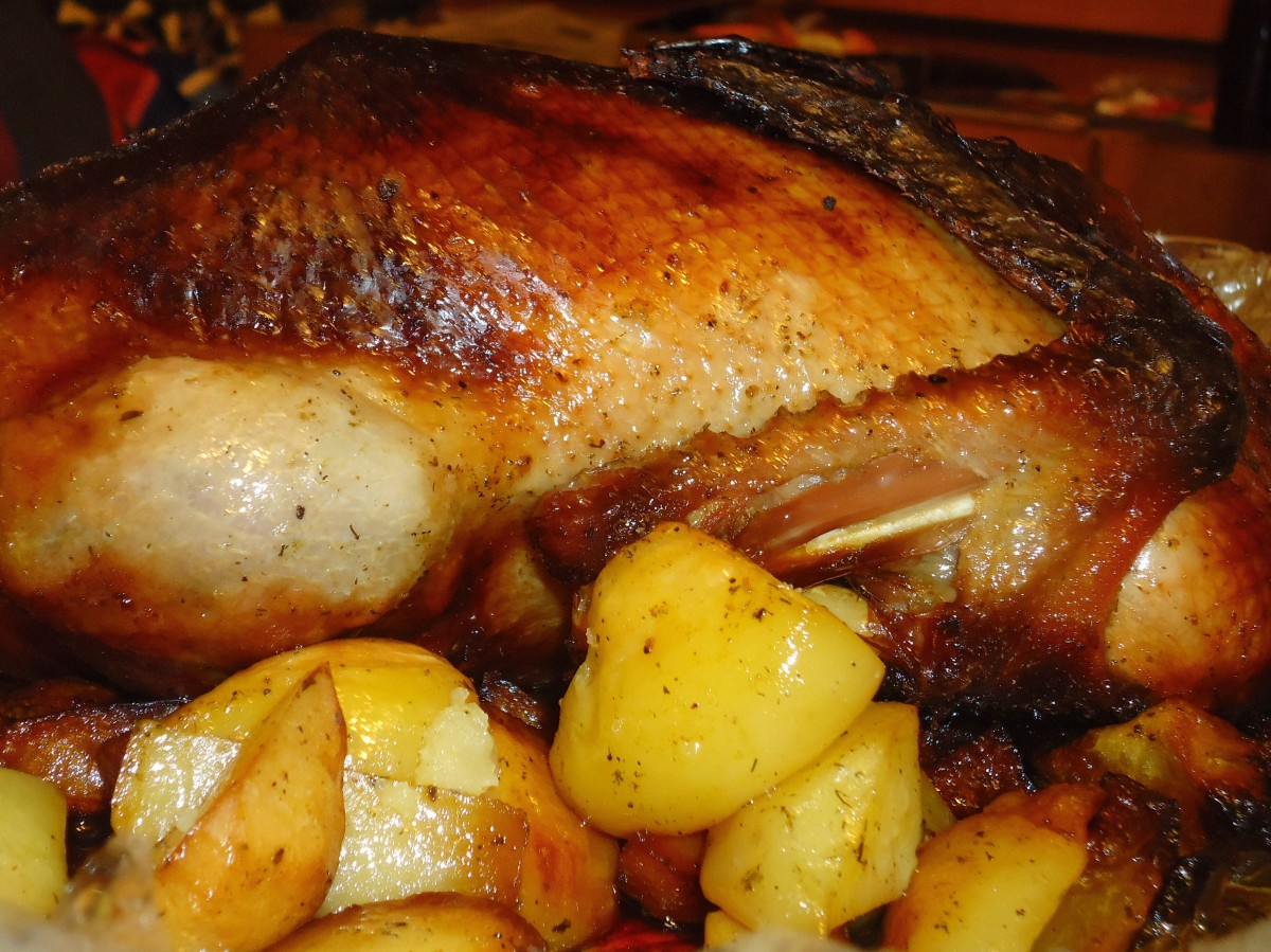 Утка фаршированная в духовке пошаговый рецепт