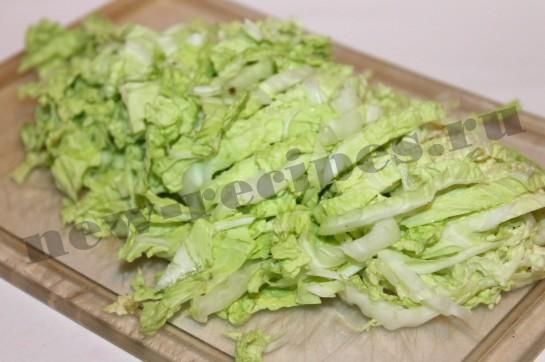 Рецепт салата пекинская капуста, куриная грудка 2