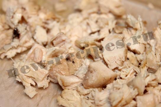 Рецепт салата пекинская капуста, куриная грудка 4