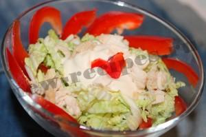 Рецепт салата пекинская капуста, куриная грудка 8