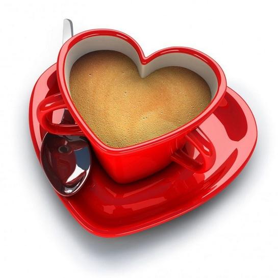 чашка для двоих в виде сердца