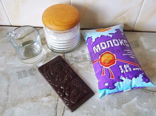 ингредиенты для горячего шоколада