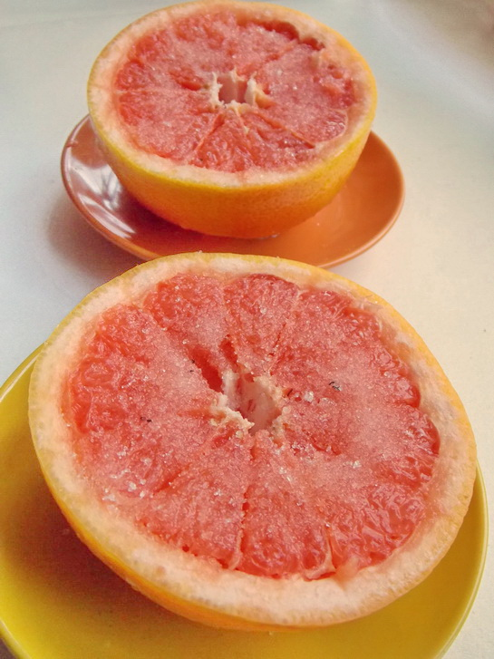 десерт из красного грейпфрута