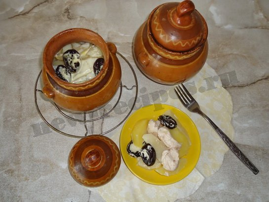 картошка с черносливом готова
