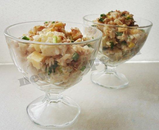Салат из тунца рецепт простой с огурцом и