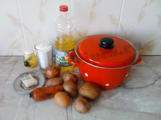ингредиенты для супа с клецками