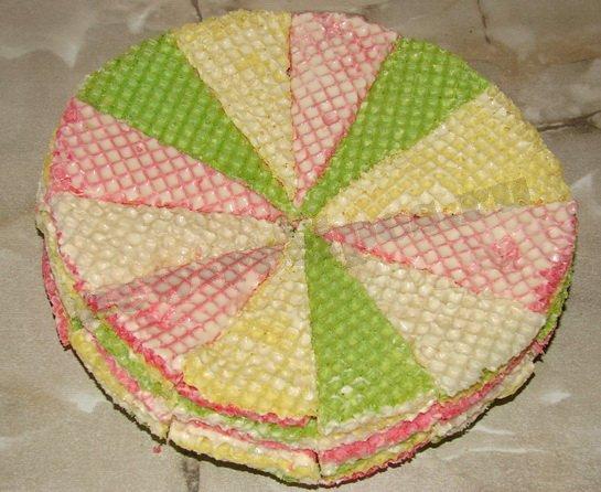 самый вкусный торт из готовых вафельных коржей