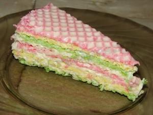 Торт из готовых вафельных коржей со сгущенкой