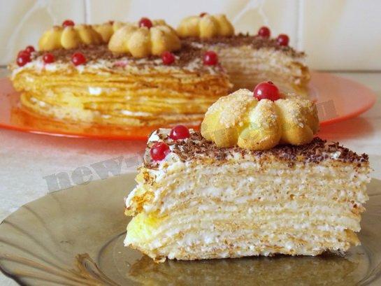 блинный торт с кремом