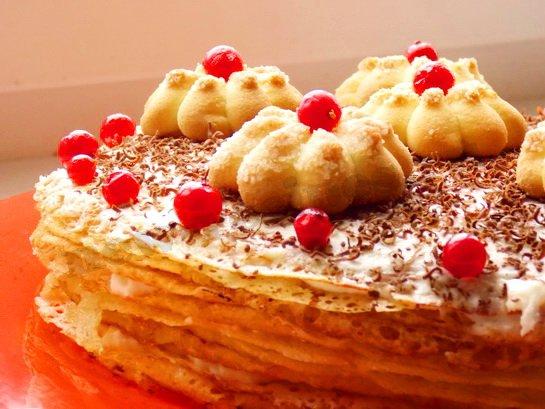 блинный сладкий торт