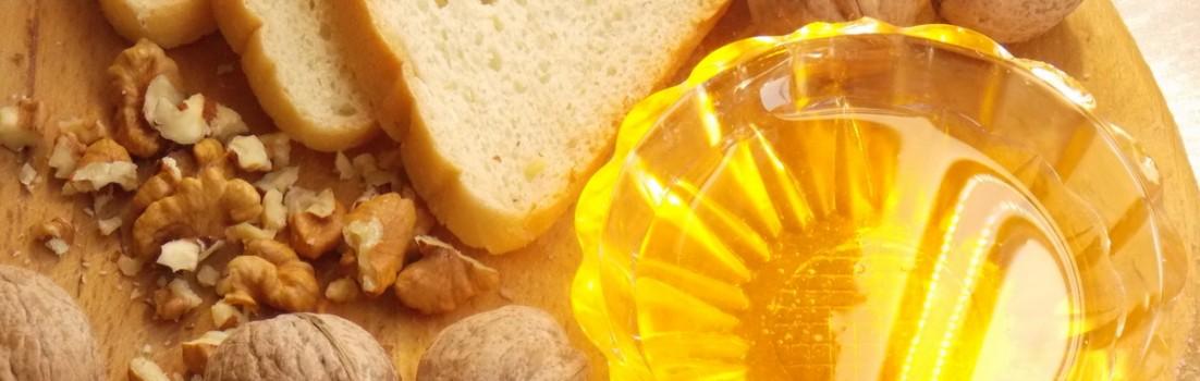 быстрые бутерброды с мёдом и орехами фото
