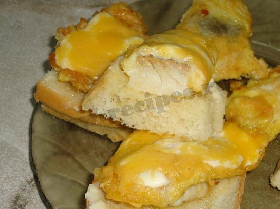 горячий бутерброд с рыбой