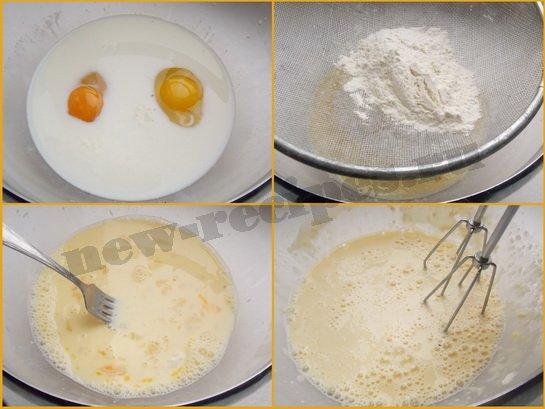 тесто для кружевных блинов