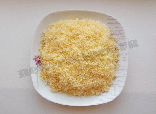 5 слой тертый сыр