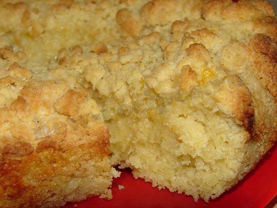 песочный пирог с лимоном готов