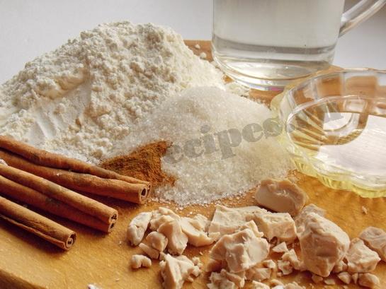 ингредиенты для булочек с корицей