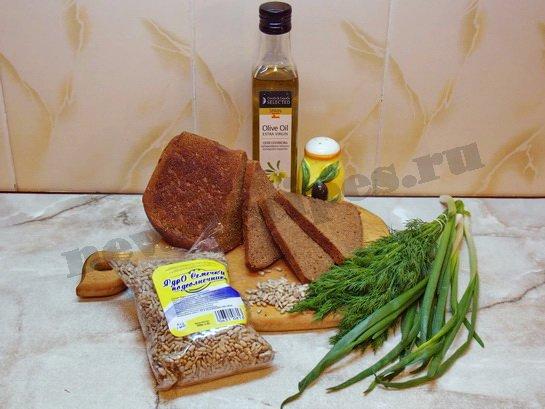 ингредиенты для весенних бутербродов