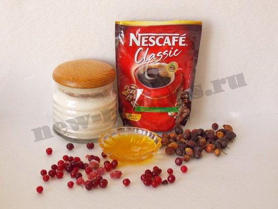 ингредиенты для кофе с ягодами и мёдом