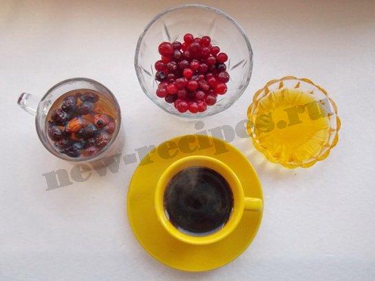 кофе с ягодами и мёдом