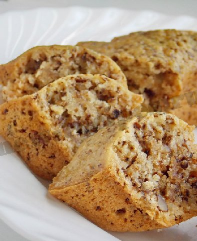 красивый и вкусный кекс с орехами