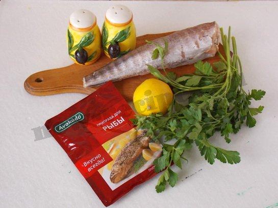 ингредиенты для рыбы с лимоном в микроволновке