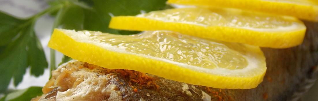 рыба запеченная с лимоном рецепт