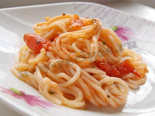 рецепт спагетти с томатом