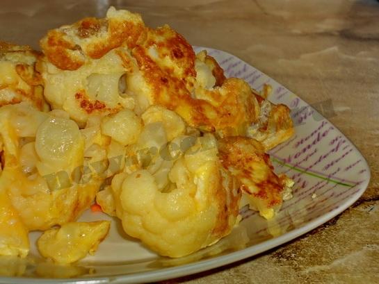 рецепт цветной капусты с яйцом