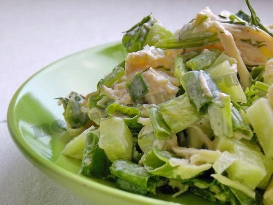 вкусный зелёный салат