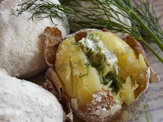 печеная картошка готова