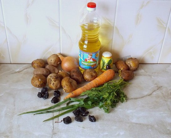 ингредиенты для жаркого из картошки
