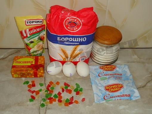 ингредиенты для кексов с цукатами