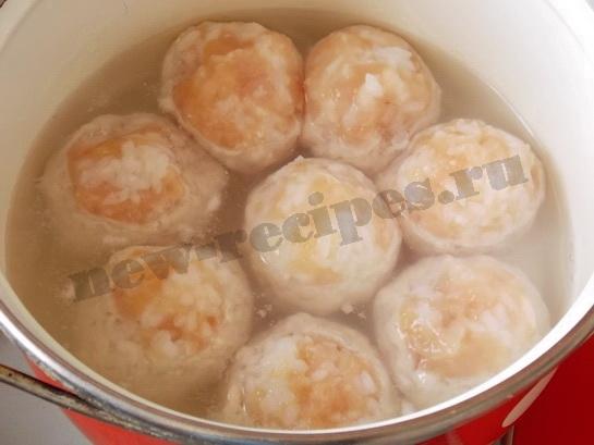 Куриные тефтели с рисом