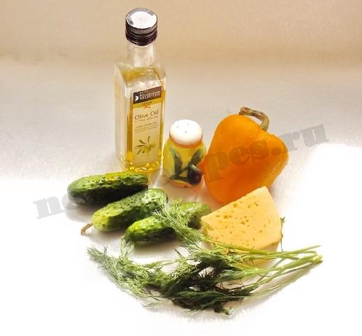 ингредиенты для вкусного свежего салата