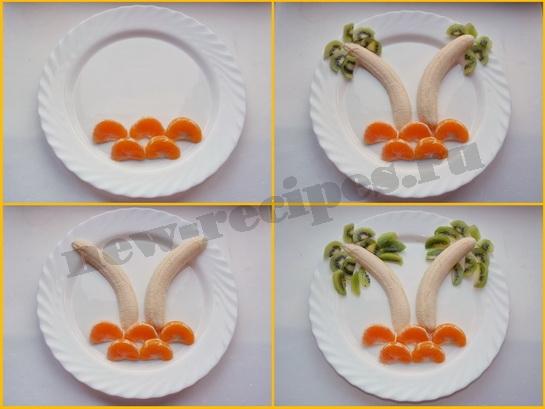 Пальма из фруктов. Как сделать фруктовую пальму Кулинарные рецепты приготовления блюд с фото, новые рецепты с фотографиями