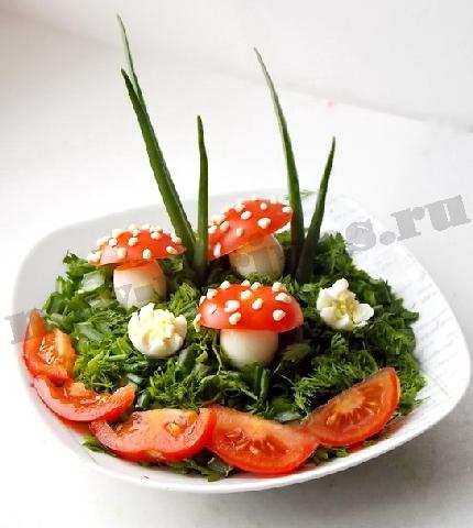 рецепт салата лесная поляна с опятами фото рецепт