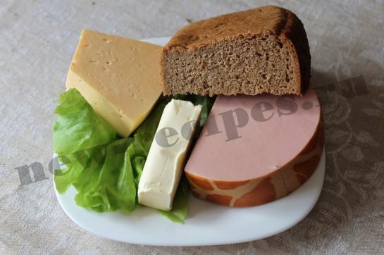 Горячий бутерброд с сыром и колбасой 1