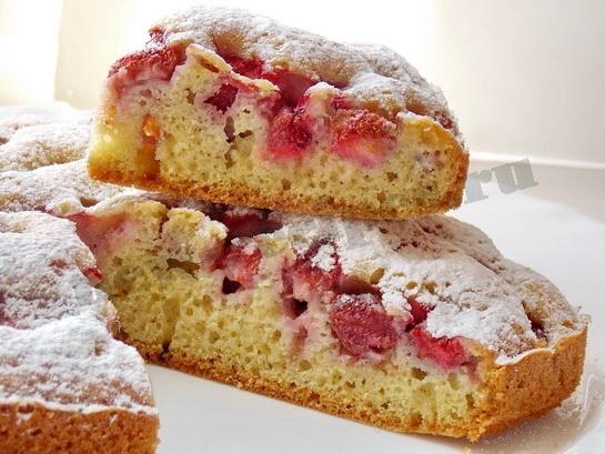 Бисквиты с клубникой рецепт
