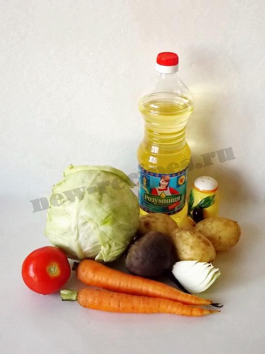 ингредиенты для летнего борща