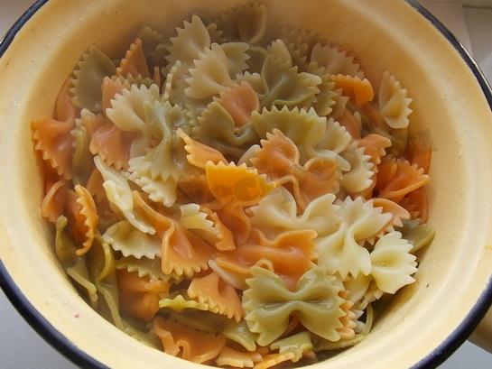 макароны бантики готовы