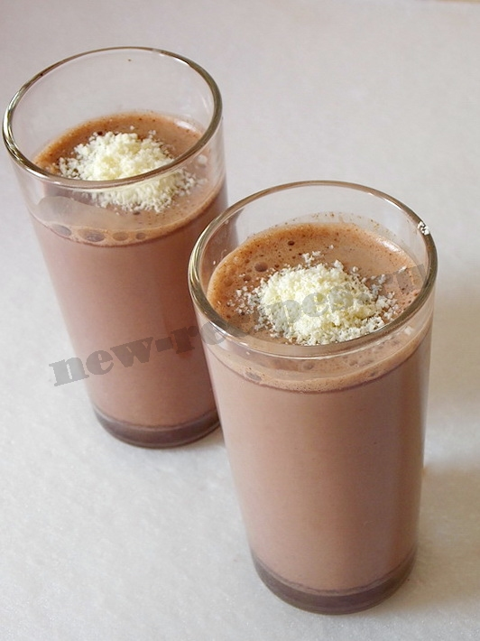 шоколадный коктейль готов