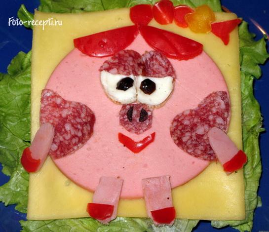 бутерброды мультики для детей