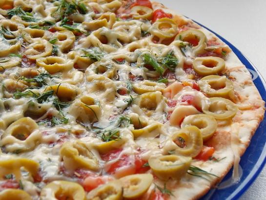 готовим пиццу в микроволновой печи