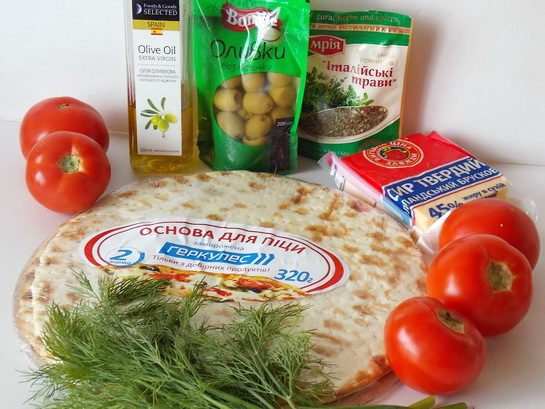 ингредиенты для пиццы маринара