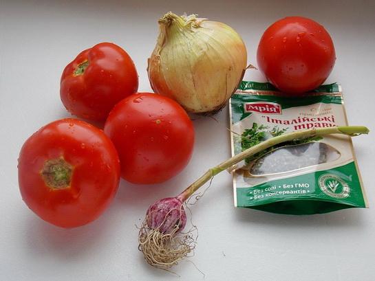 ингредиенты джля томатного соуса