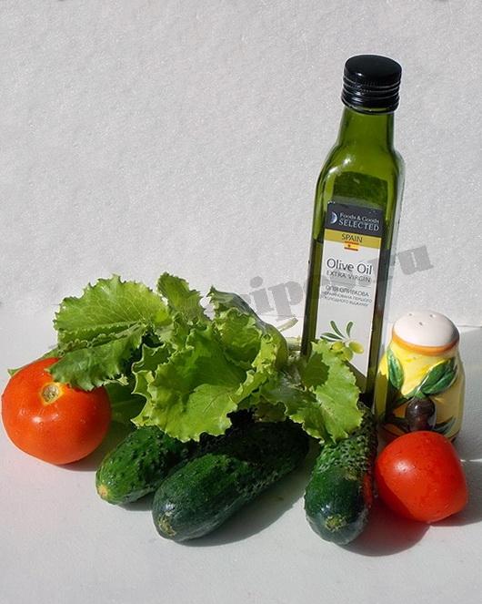 ингредиенты для салата из салатных листьев