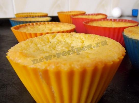 как испечь творожные кексы