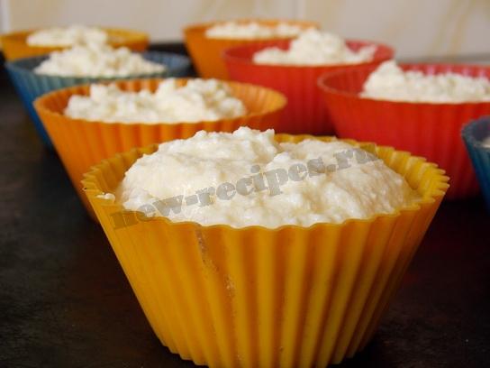 Творожные кексы в формочках