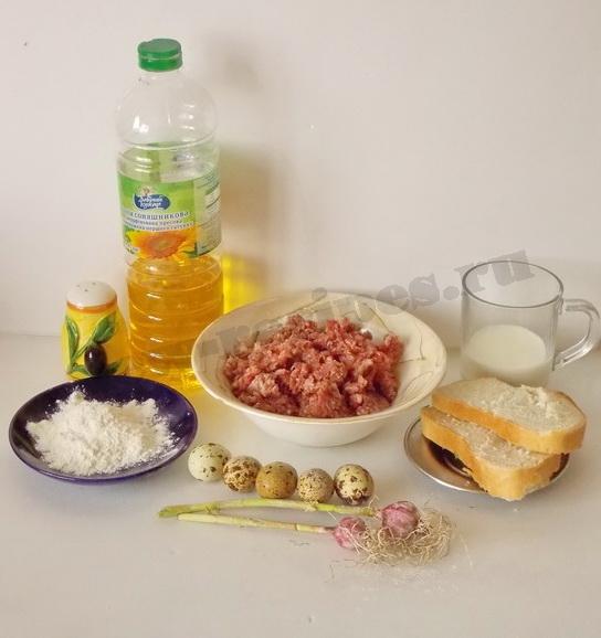 ингредиенты для мясных зраз